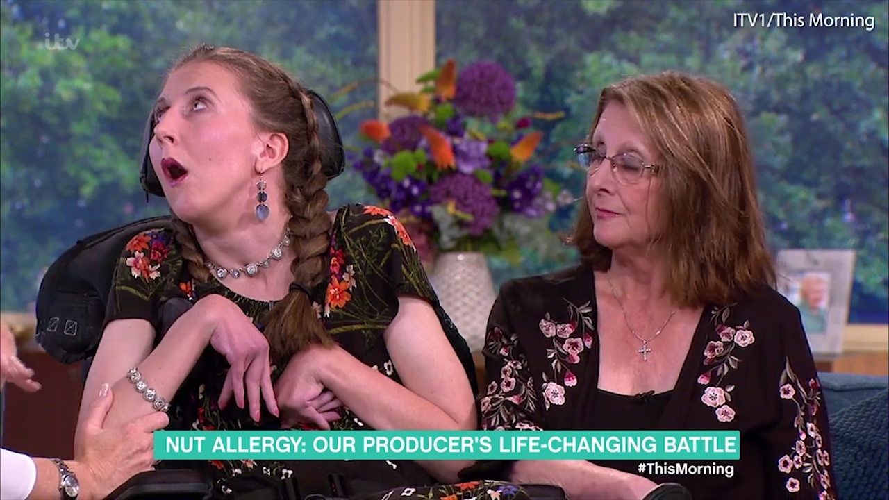 TV producer with brain damage due to food allergy returns