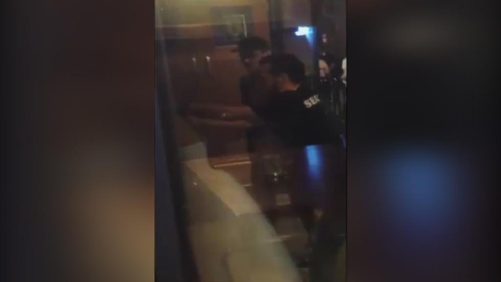 9RAW: Newlyweds are arrested in pub brawl