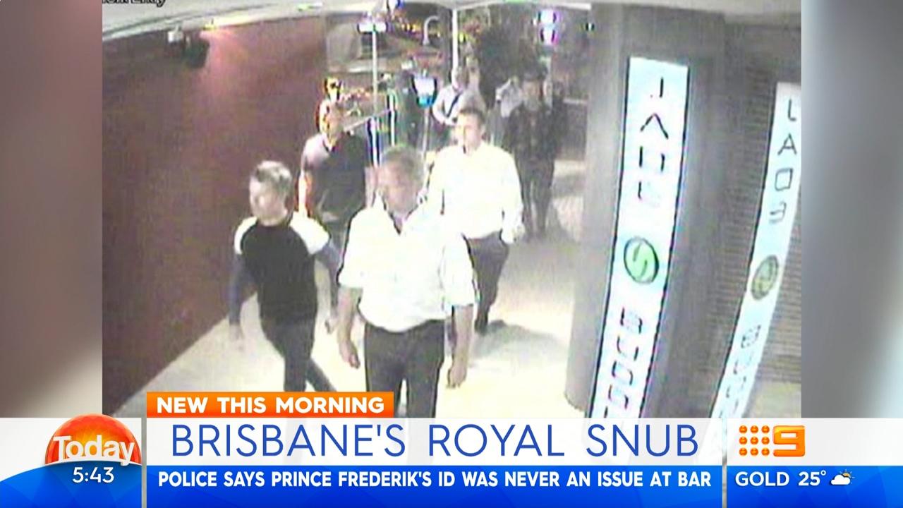 Crown Prince Frederik's entourage turned away on club CCTV