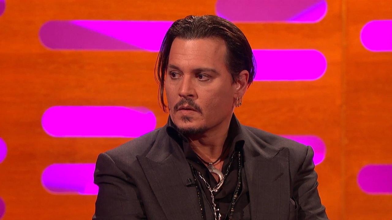 Johnny Depp appears on The Graham Norton Show