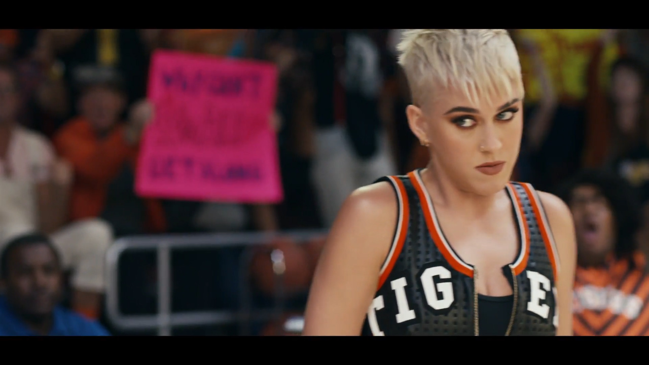 Katy Perry unveils 'Swish Swish' music video
