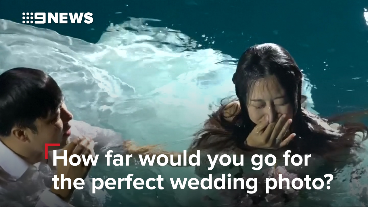 Chinese couples going to great lengths to get the perfect wedding picture