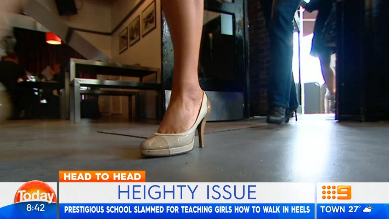 School slammed for teaching girls to walk in heels