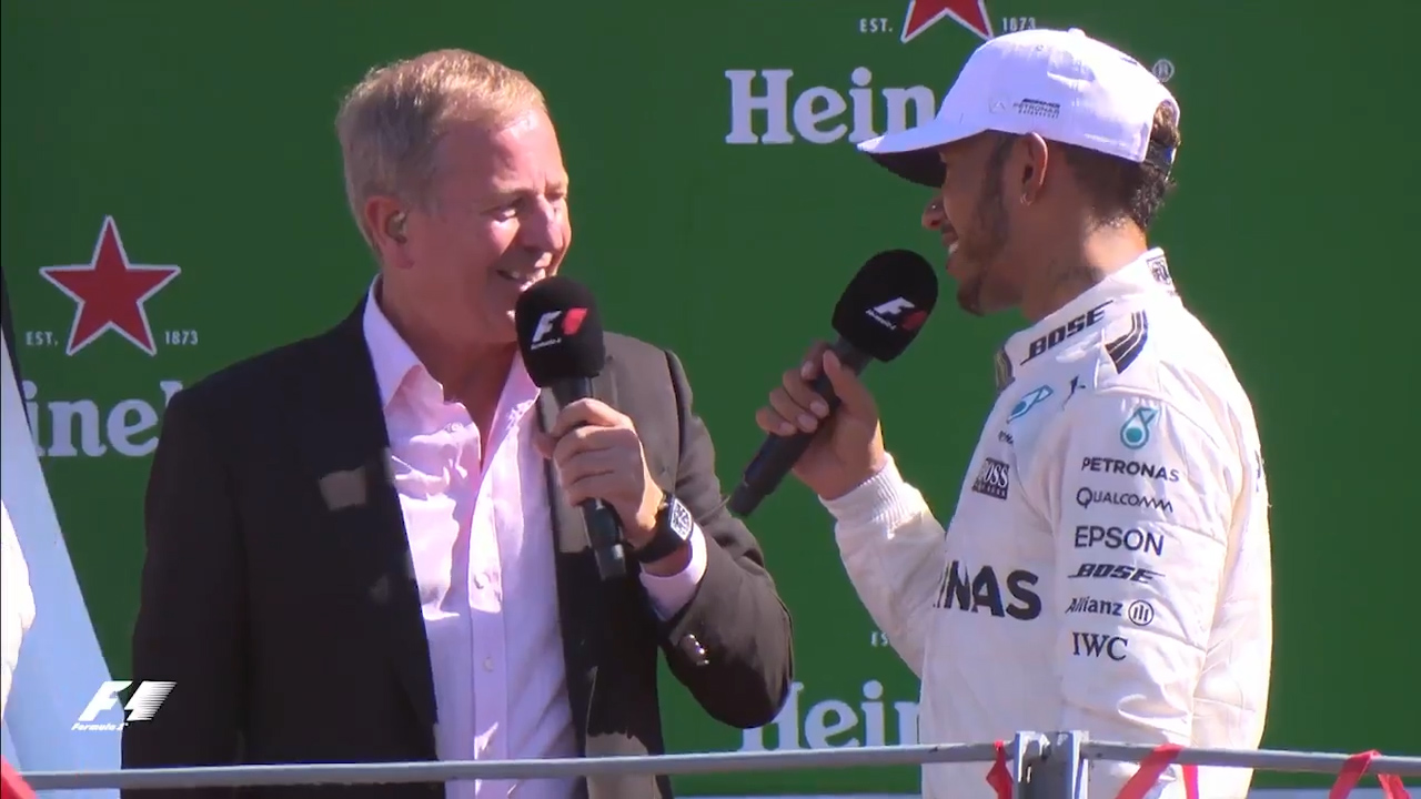 Hamilton booed by fans after F1 win