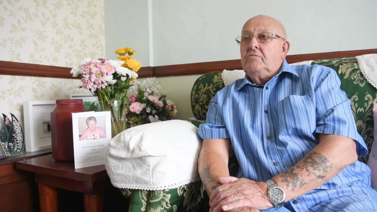 Widower given wife's ashes in paper bag
