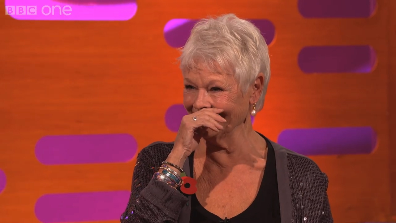 Dame Judi Dench goes clubbing