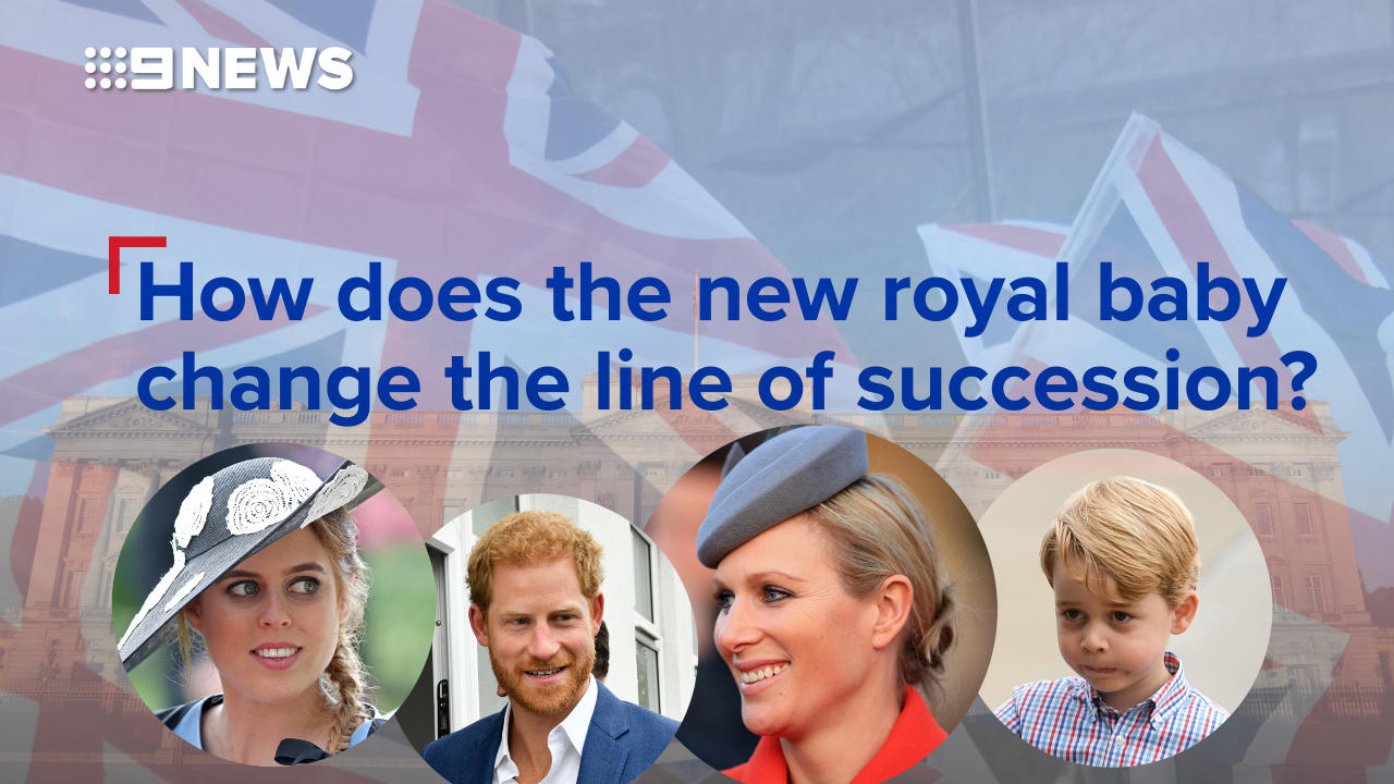 How does the new royal baby change the line of succession?