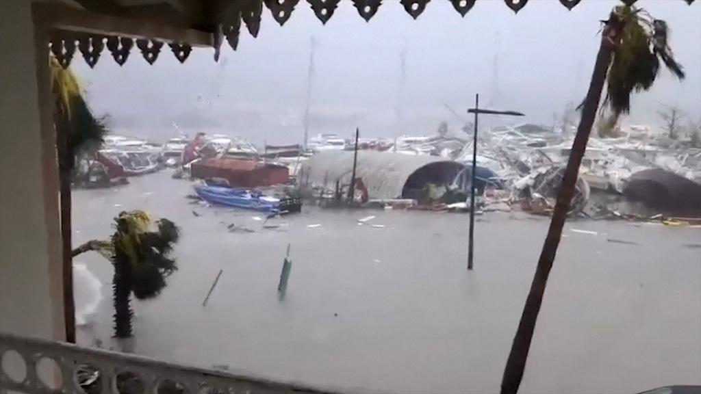 9RAW: Saint Martin street underwater after Irma