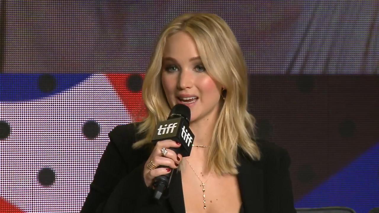 Jennifer Lawrence at mother! press conference