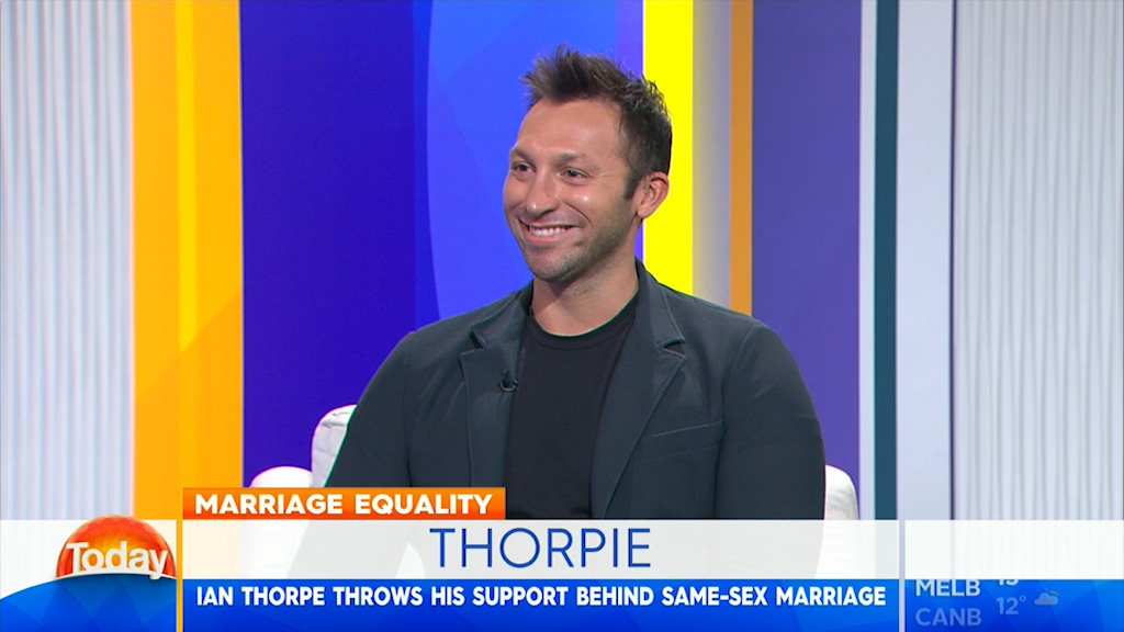 Ian Thorpe throws support behind same-sex marriage