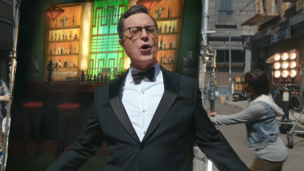Colbert's political Emmys opening