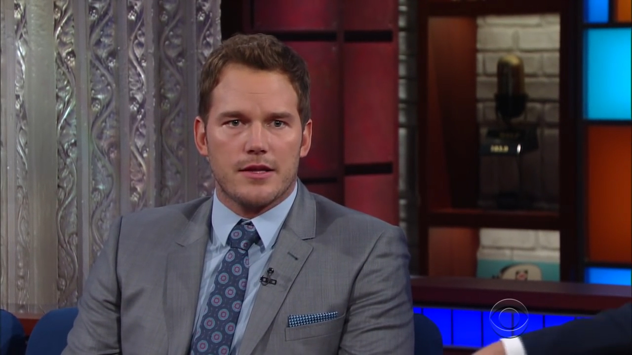 Chris Pratt appears on The Later Show