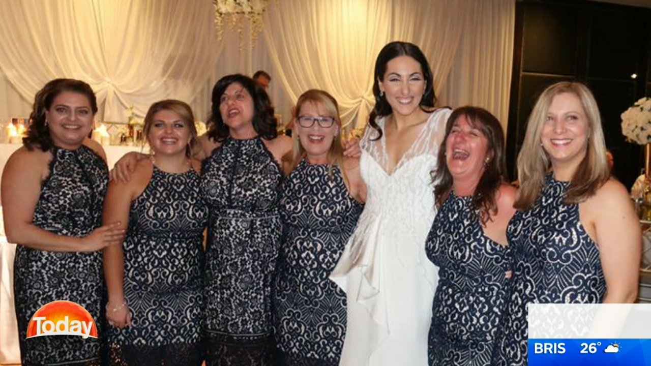 These six accidental bridesmaids wore the same dress a wedding these six accidental bridesmaids wore the same dress a wedding 9honey ombrellifo Choice Image