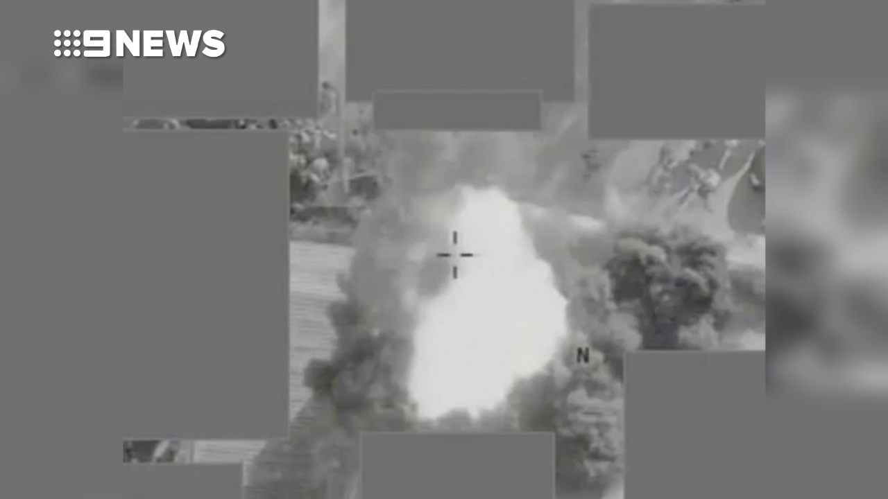 Drone captures missile putting stop to ISIS execution