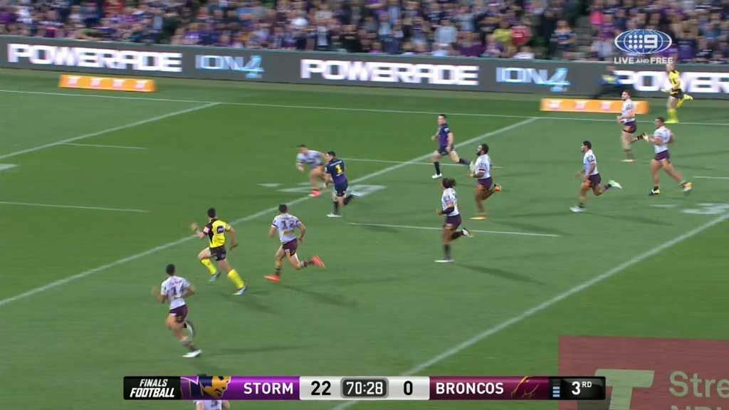 Slater scores double