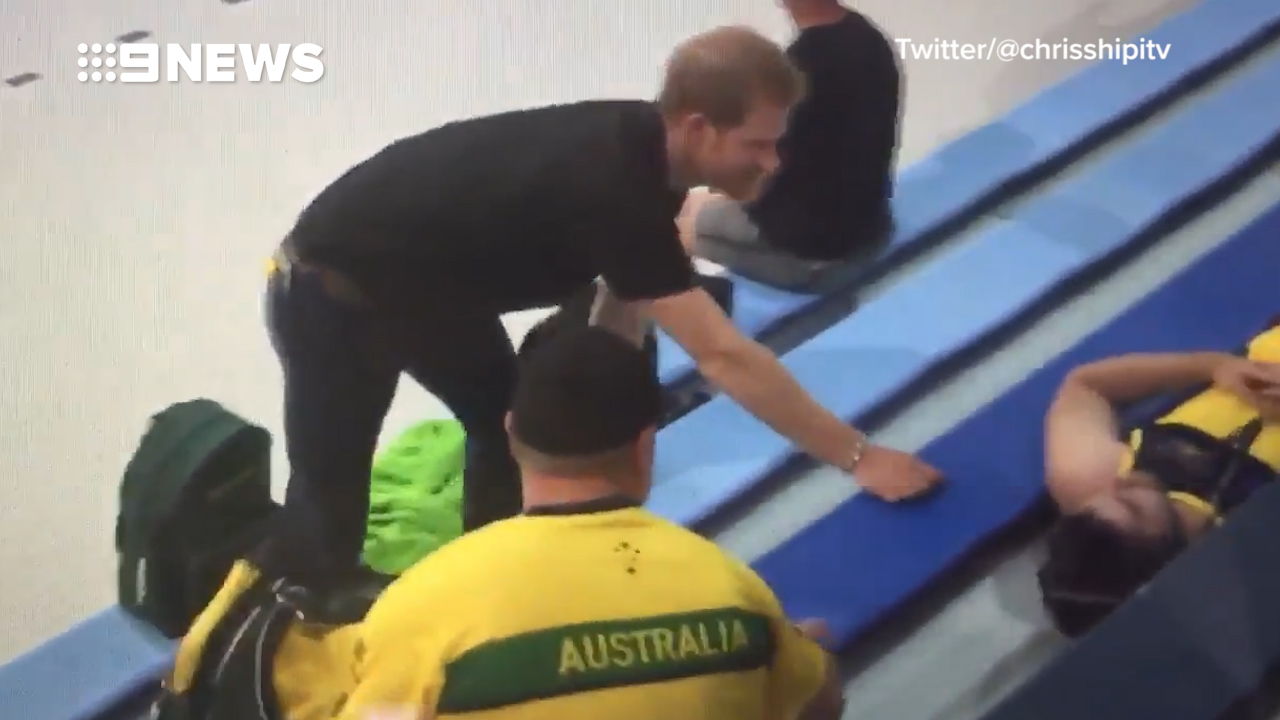 Prince Harry's surprise wake up call to Aussie athlete