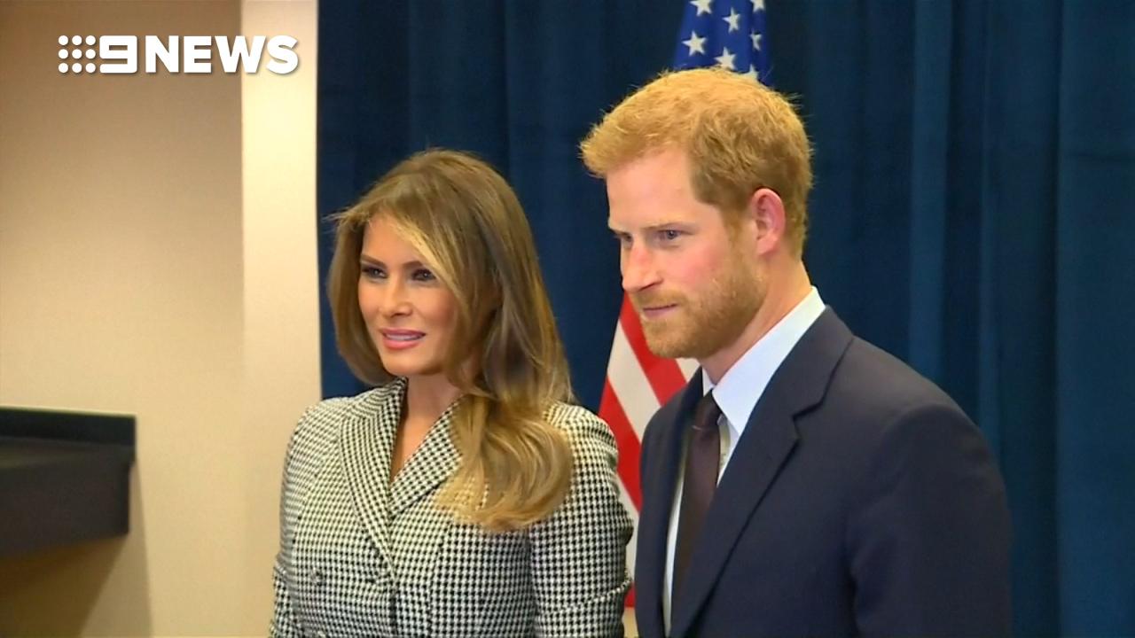 9RAW: Prince Harry meets Melania Trump