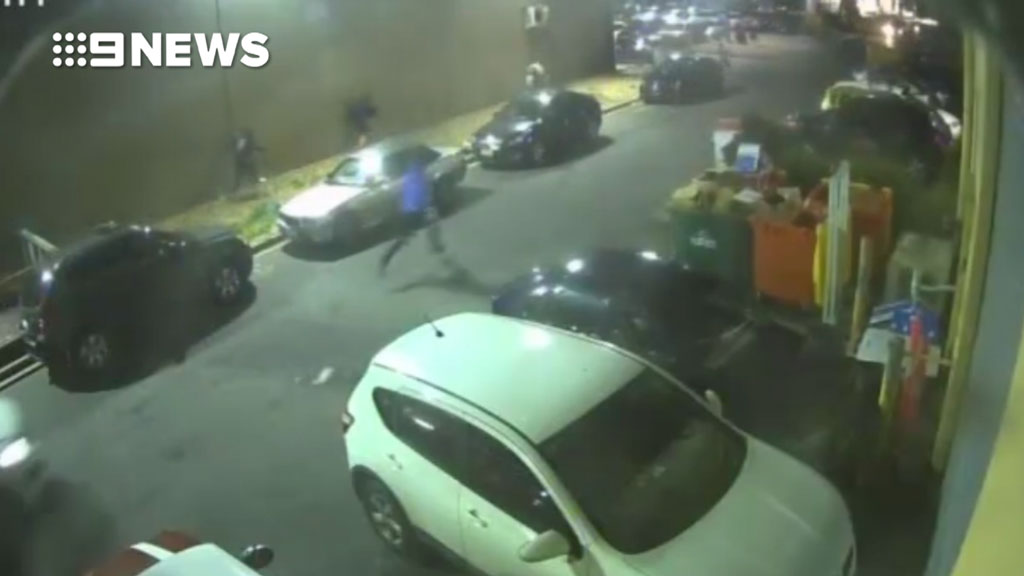 CCTV shows Coolaroo shooting