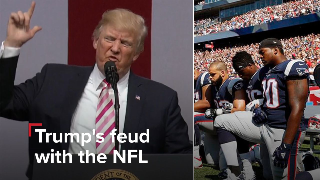 Trump sparks backlash with call for kneeling NFL players to be 'fired'