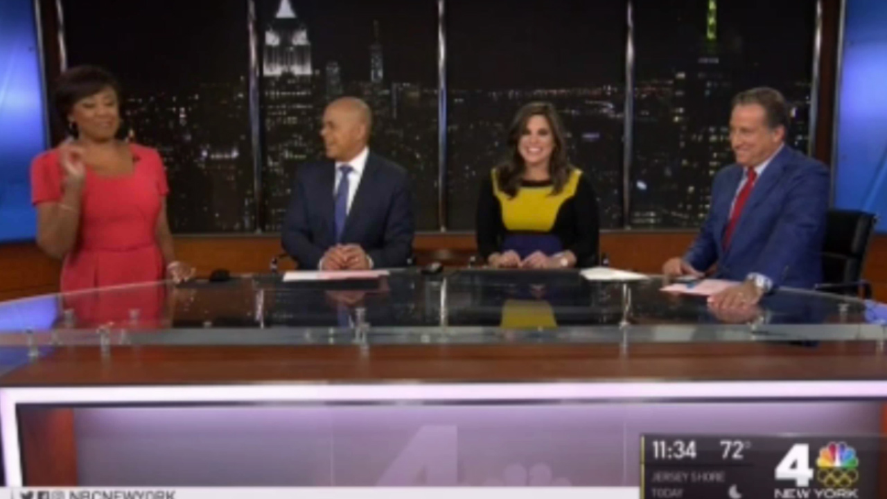 News Anchor's waters break live on-air