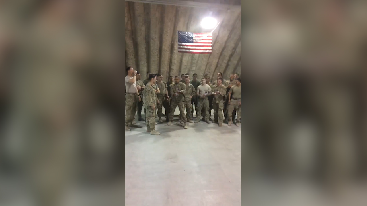 US soldiers in Afghanistan find out their fallen 'brother' is having a girl