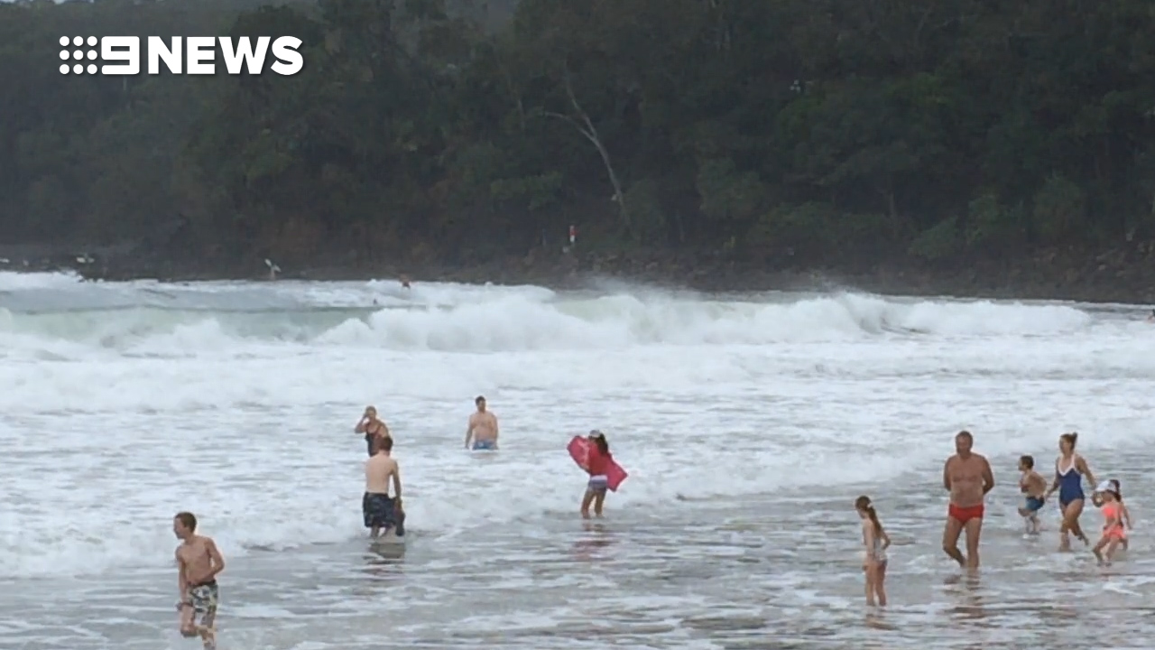 'The wind is insane': Holiday spots battered by rain
