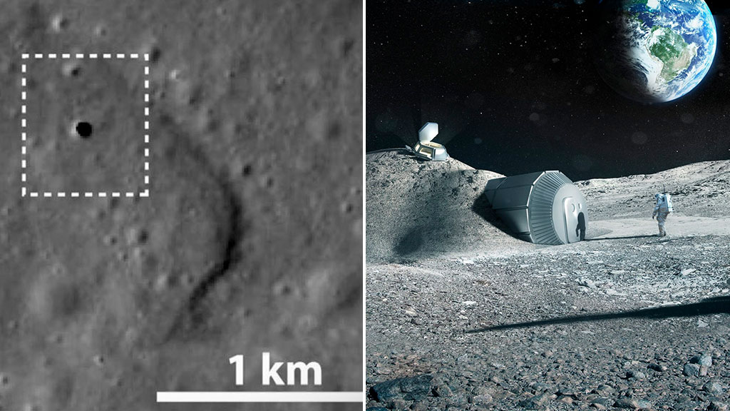Huge cave found on the moon