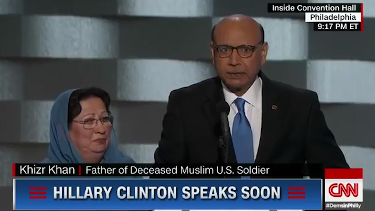 Father of fallen Muslim soldier takes aim at Donald Trump