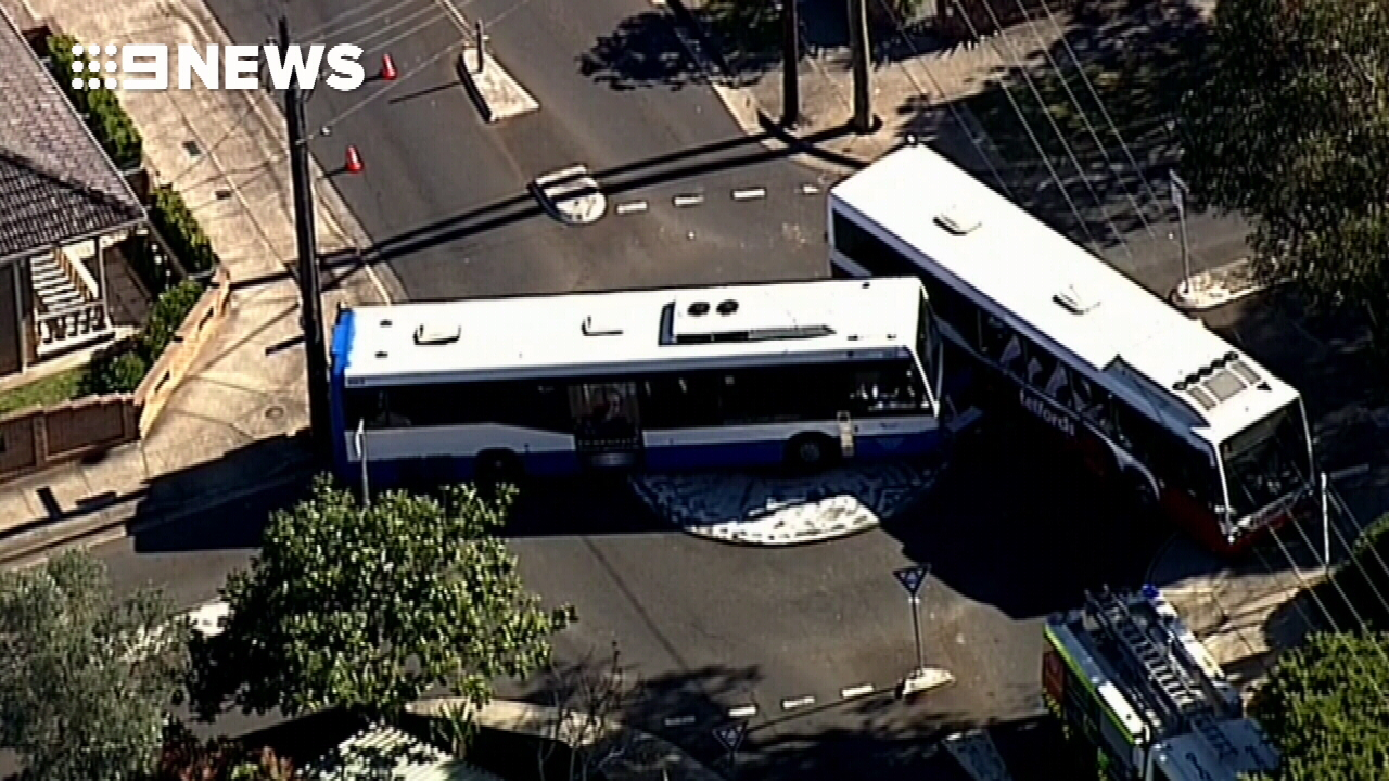 Two school buses collide in Sydney