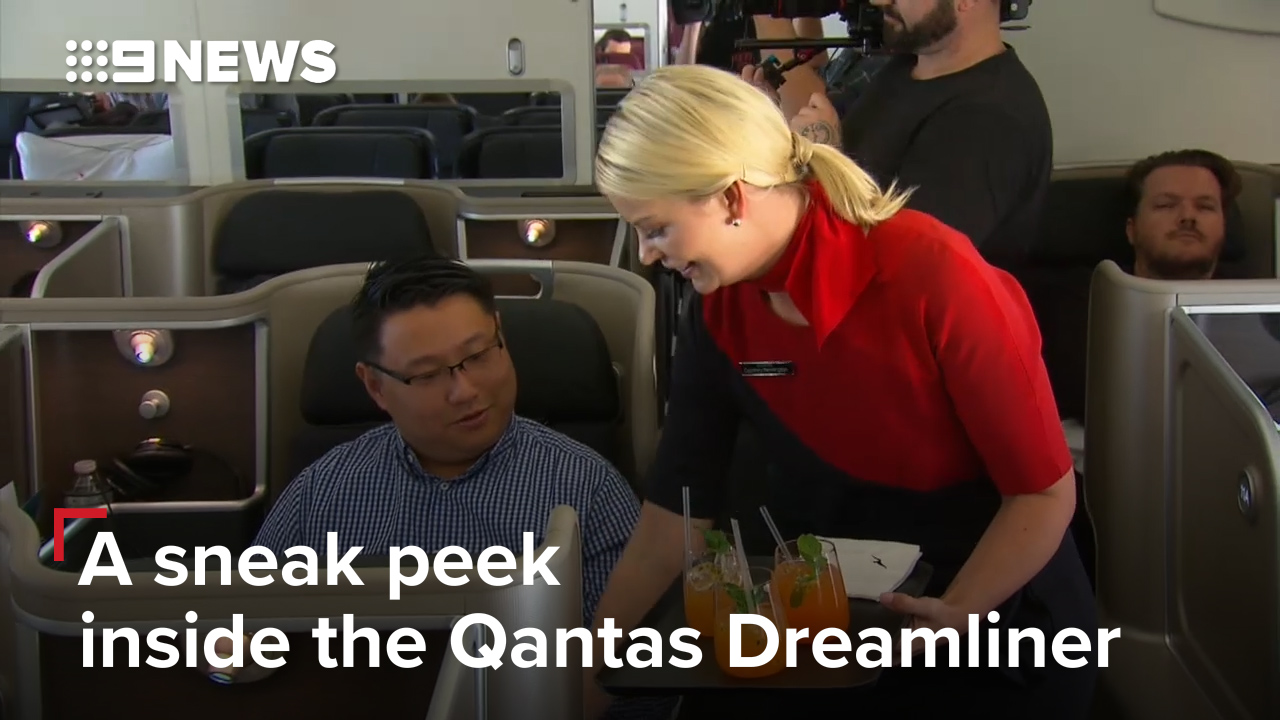A sneak peek inside the Qantas Dreamliner