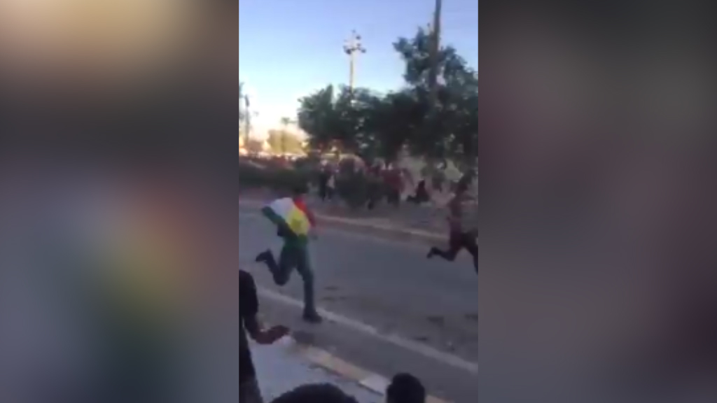 Kurdish protestors shot at by Iraqi forces