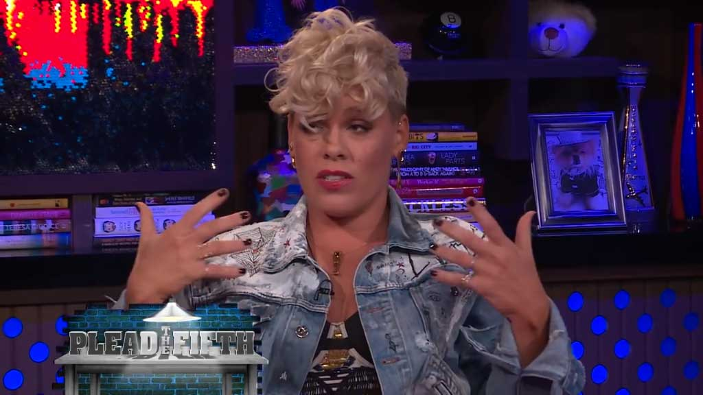 Pink addresses her rumoured feud with Christina Aguilera
