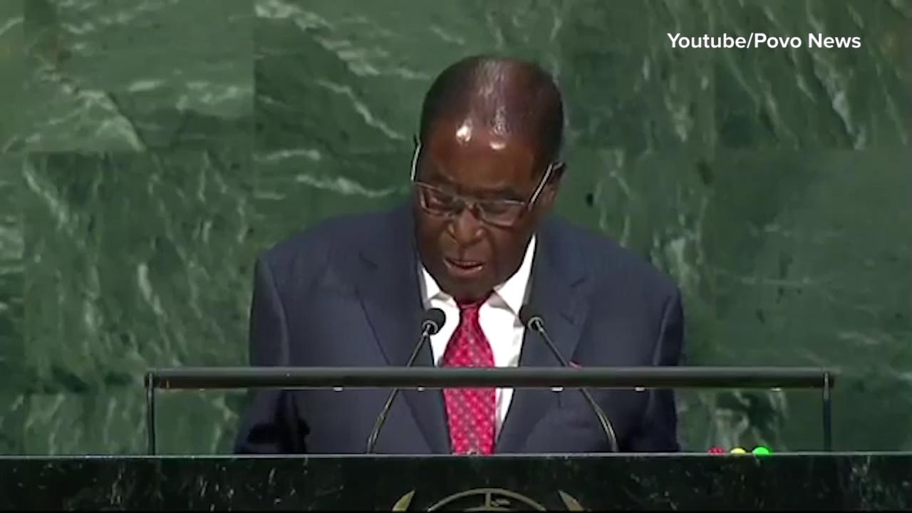 Mugabe refers to Trump as biblical 'Goliath'
