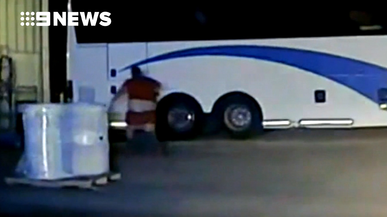 Suspect's pants fall down during chase