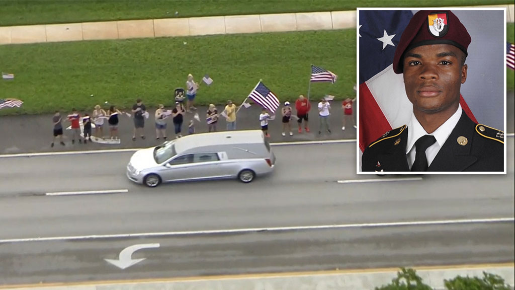 Funeral service for fallen US soldier