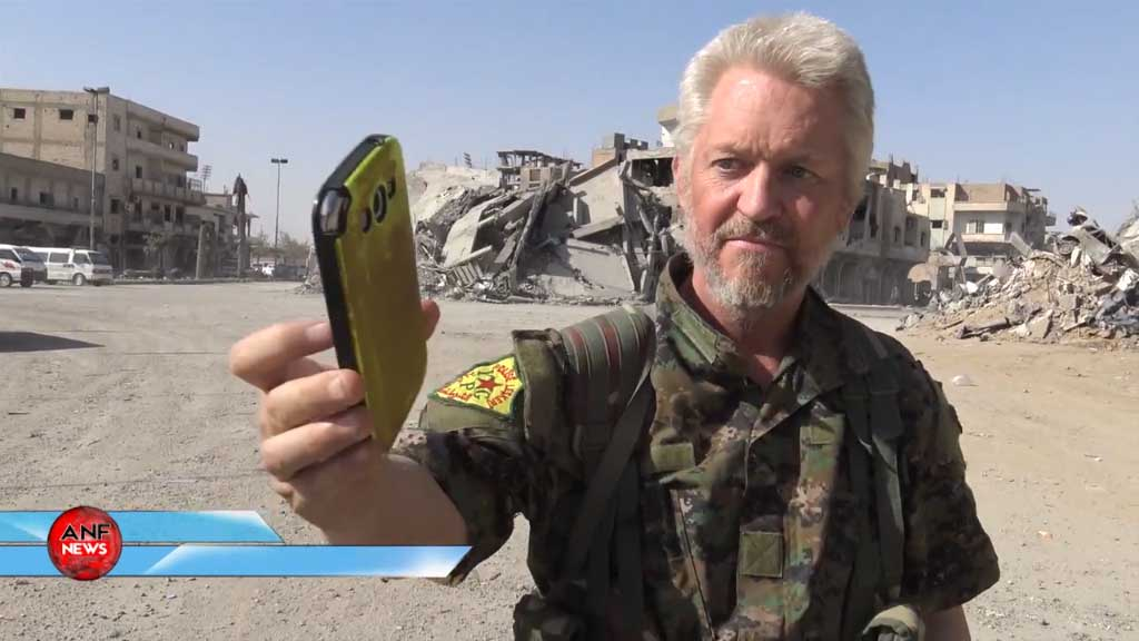 British actor plays Ariana Grande in Raqqa