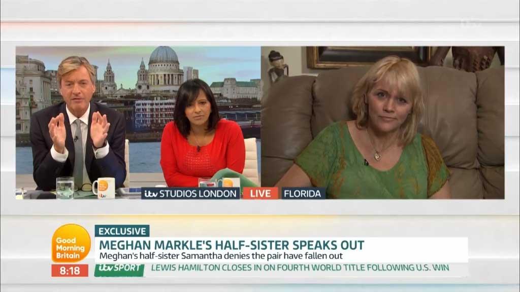 Meghan Markle's half-sister denies rift rumours