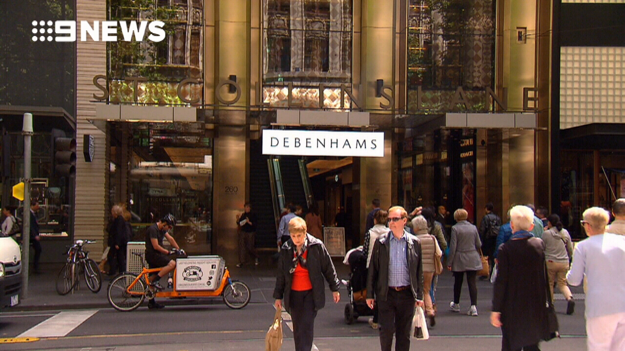 Debenhams opens its doors in Melbourne
