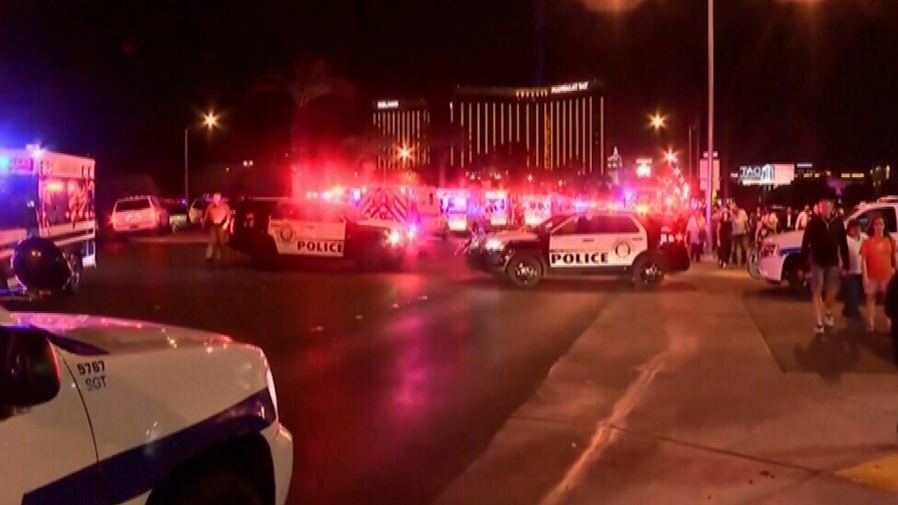 "9RAW: ""Breach, breach, breach"": The moment Las Vegas Police raided shooter's room"