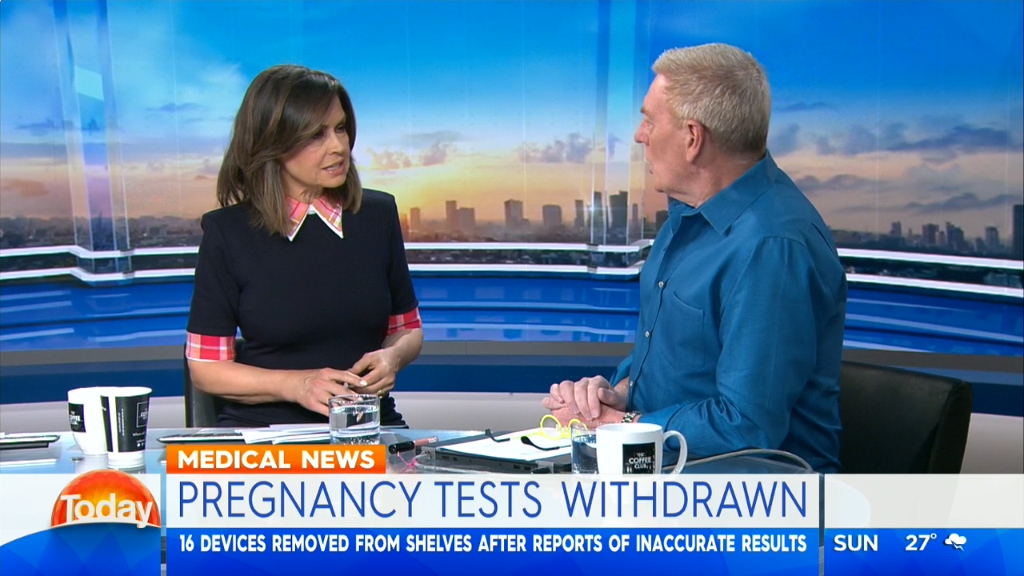 Pregnancy tests withdrawn