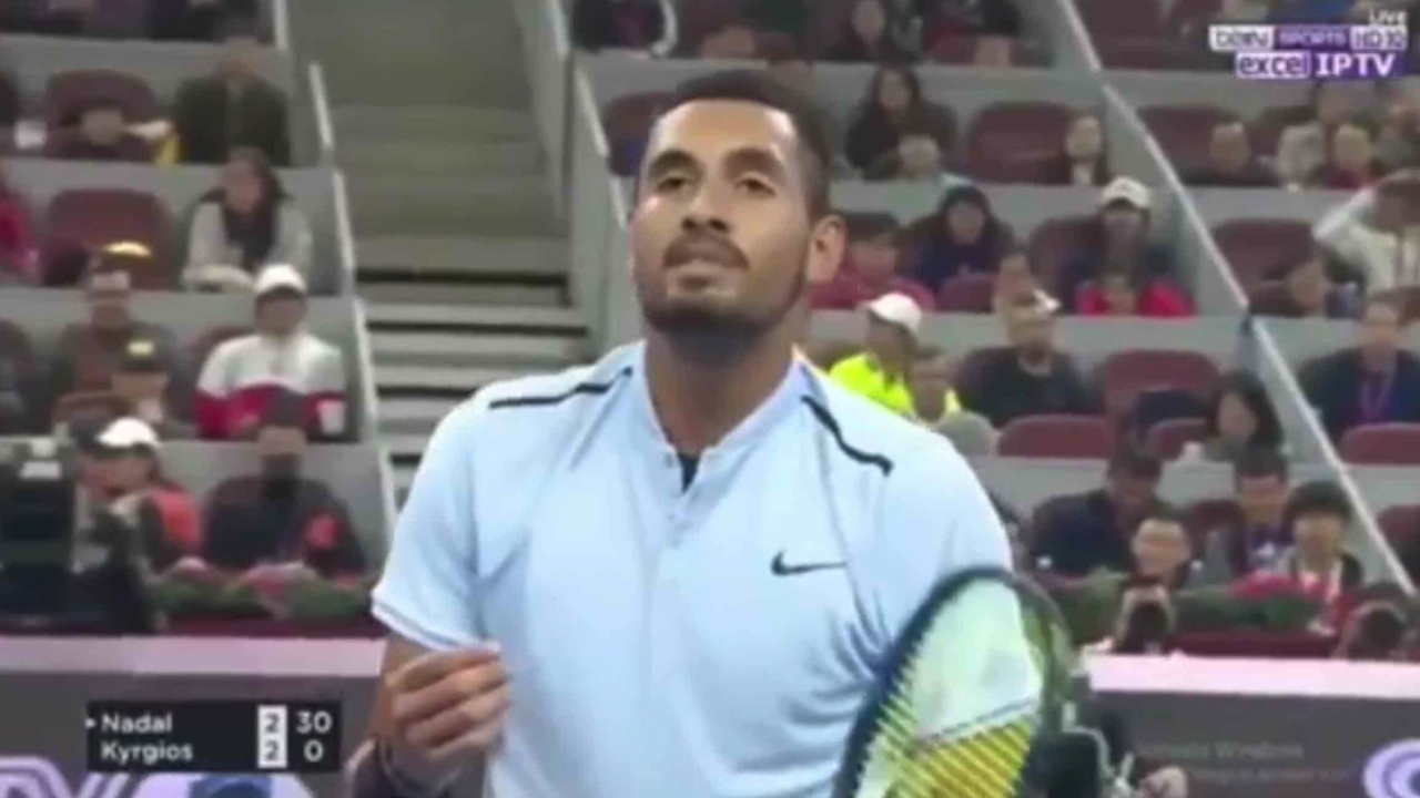 Kyrgios loses it in China Open loss to Nadal