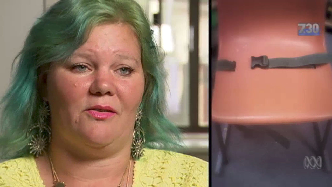 Mother speaks out after finding out autistic son was strapped down to chair