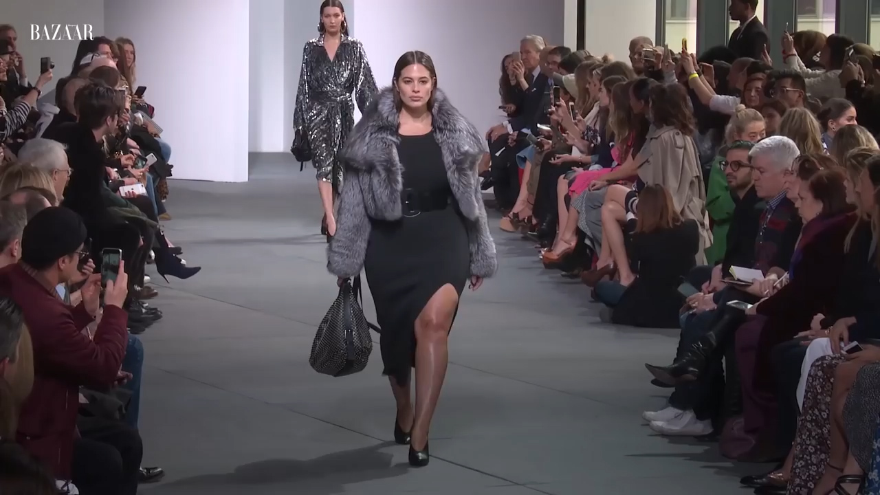 Ashley Graham first plus-size model to walk at Michael Kors