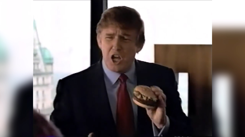 Trump in McDonald's ad