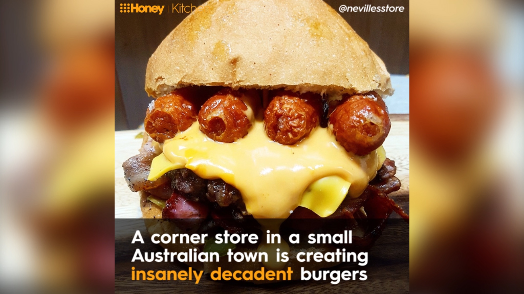 Aussie corner store's amazing burger creations