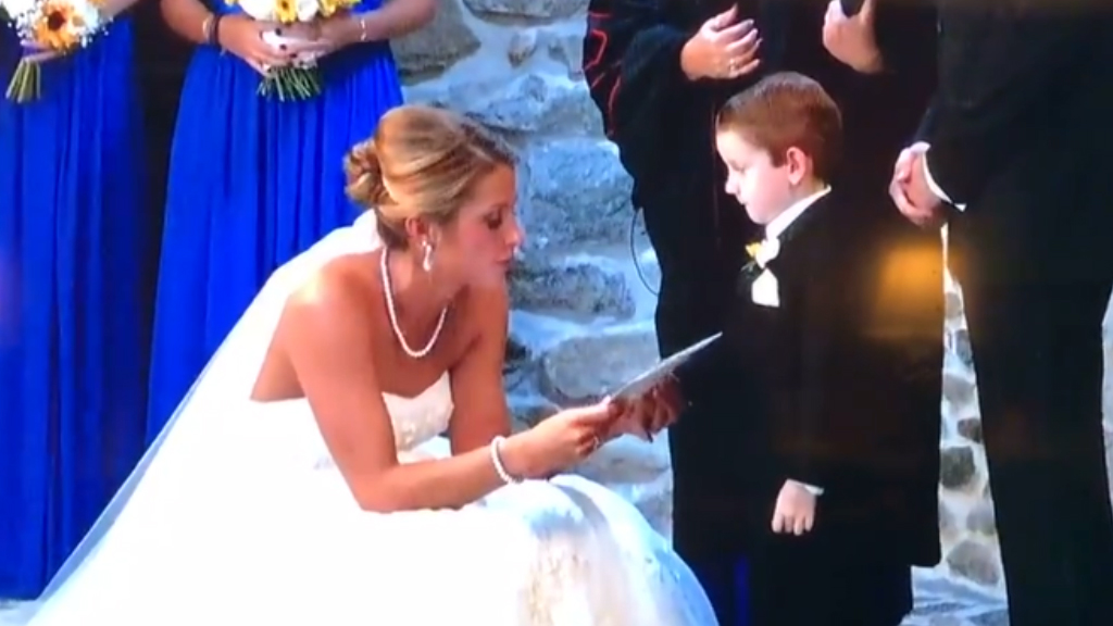 Bride's touching vows to stepson