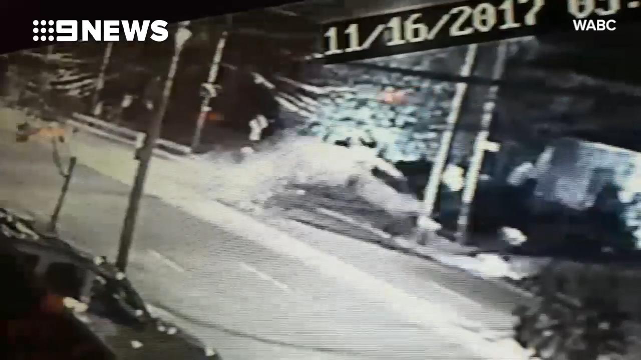 Driver survives shocking car flip while fleeing police