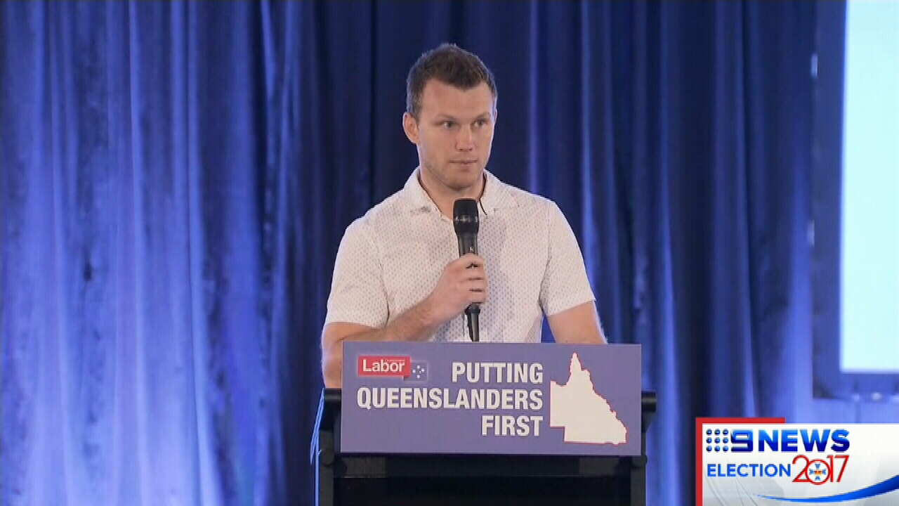 Jeff Horn joins Annastacia Palaszczuk for campaign launch