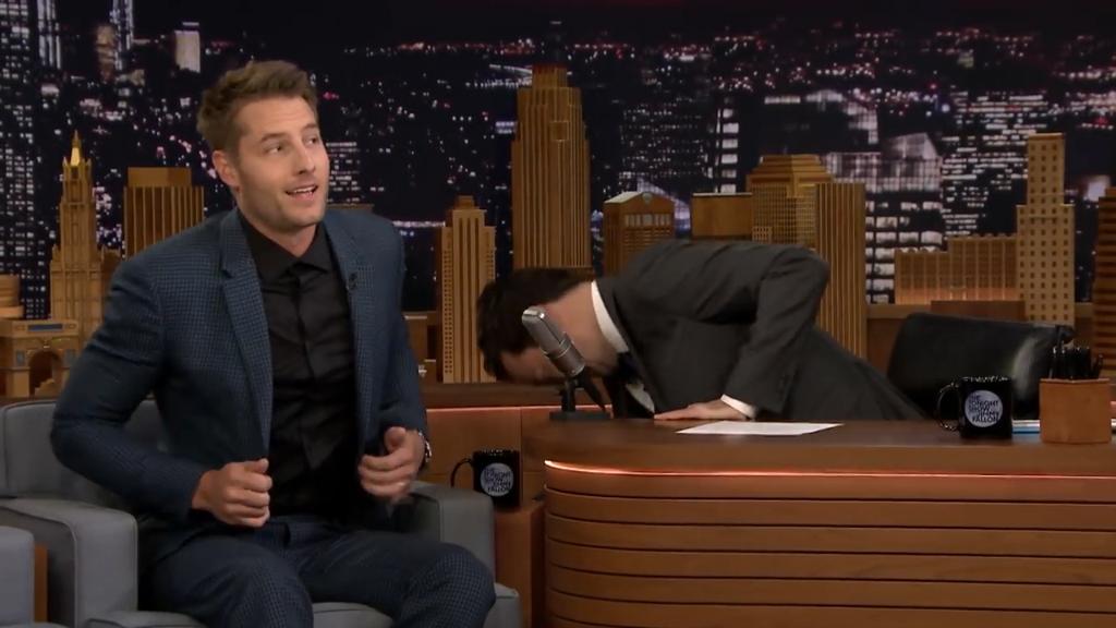 Justin Hartley got caught pretending to be Ryan Reynolds