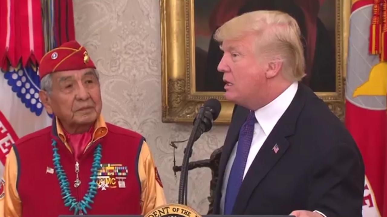 "Trump takes aim at Elizabeth Warren with ""Pocahontas"" comment"